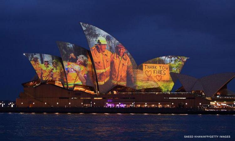 Sydney Opera House illuminates its sails in moving tribute ...