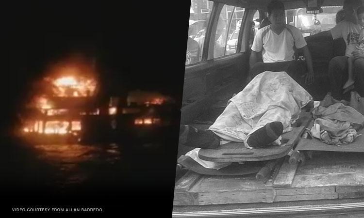 3 dead as passenger ferry catches fire