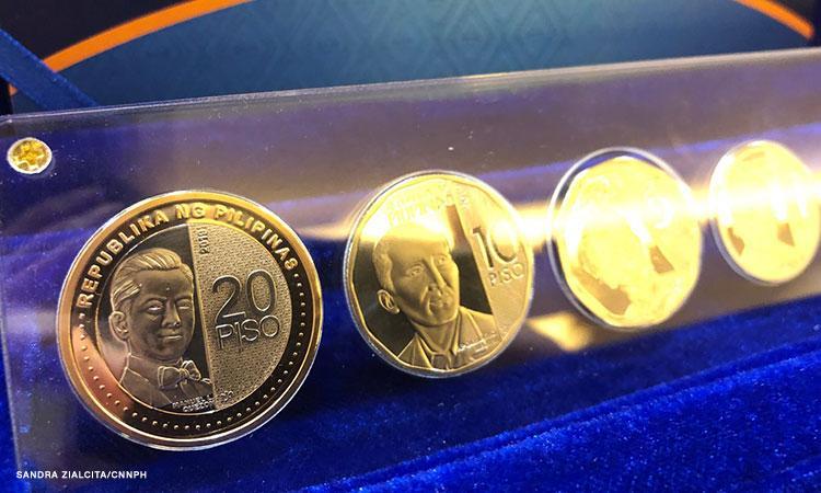 20 peso bill to coin